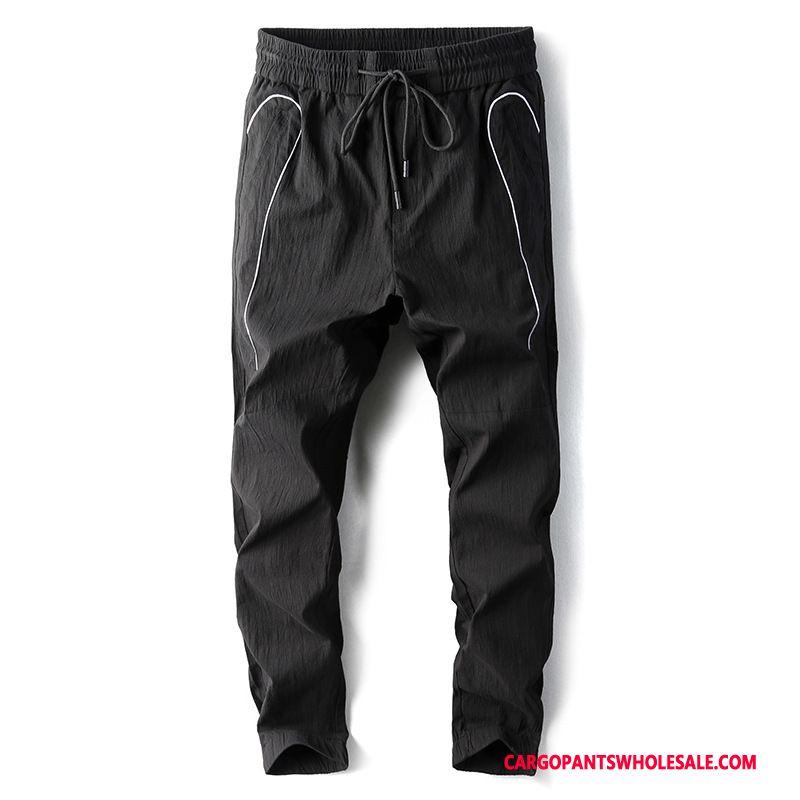Cargo Pants Male Black Casual Pants Loose Men Trend Beam Foot Small