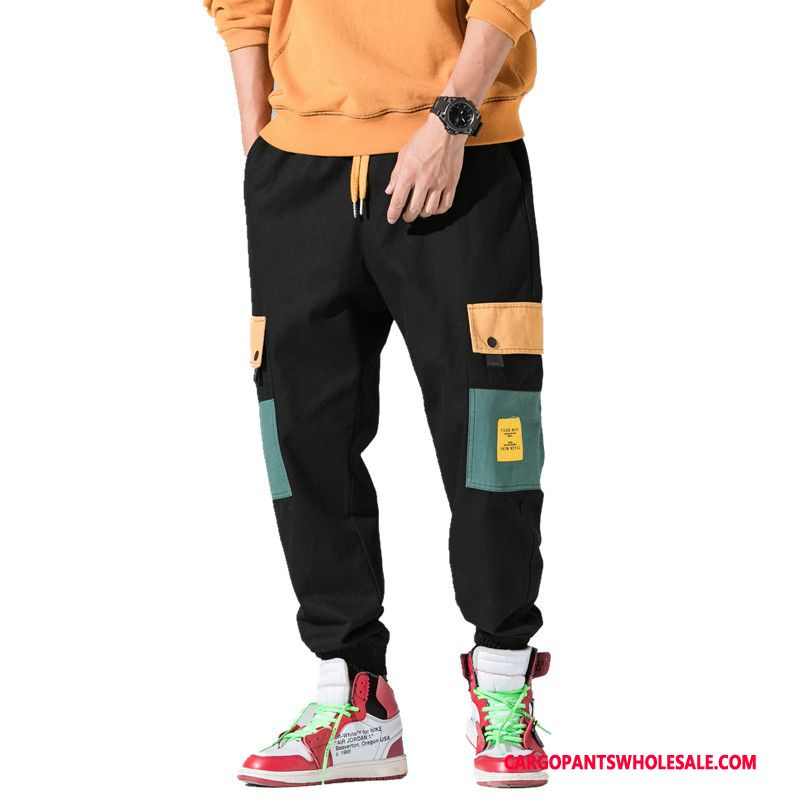 Cargo Pants Male Black Green Cargo Europe Men Autumn Beam Foot Trousers