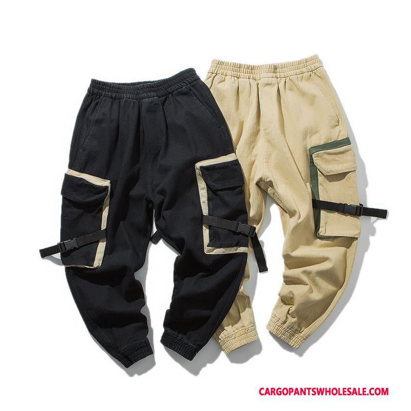 Cargo Pants Male Black Green Casual Pants Harlan Men Retro Cargo Pants Washed