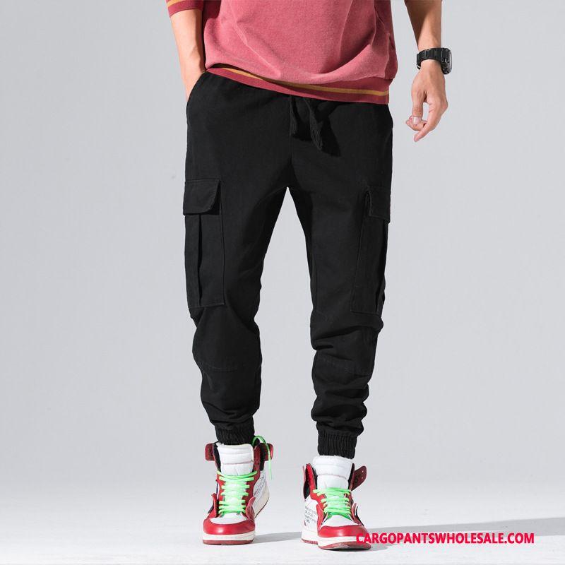 Cargo Pants Male Black Green Cotton Tide Brand Men High Grade Loose Pants
