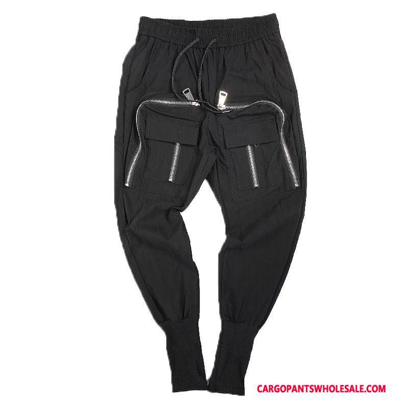 Cargo Pants Male Black Green Pants Beam Foot Harlan Small Leisure