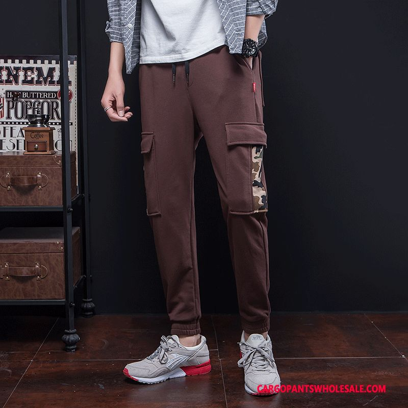 Cargo Pants Male Black Green Small Loose Literary Spring Cargo