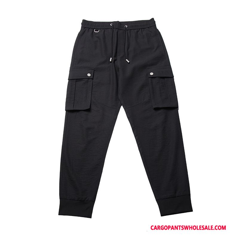 Cargo Pants Male Black Summer Thin Section Men Small Casual Pants Spring