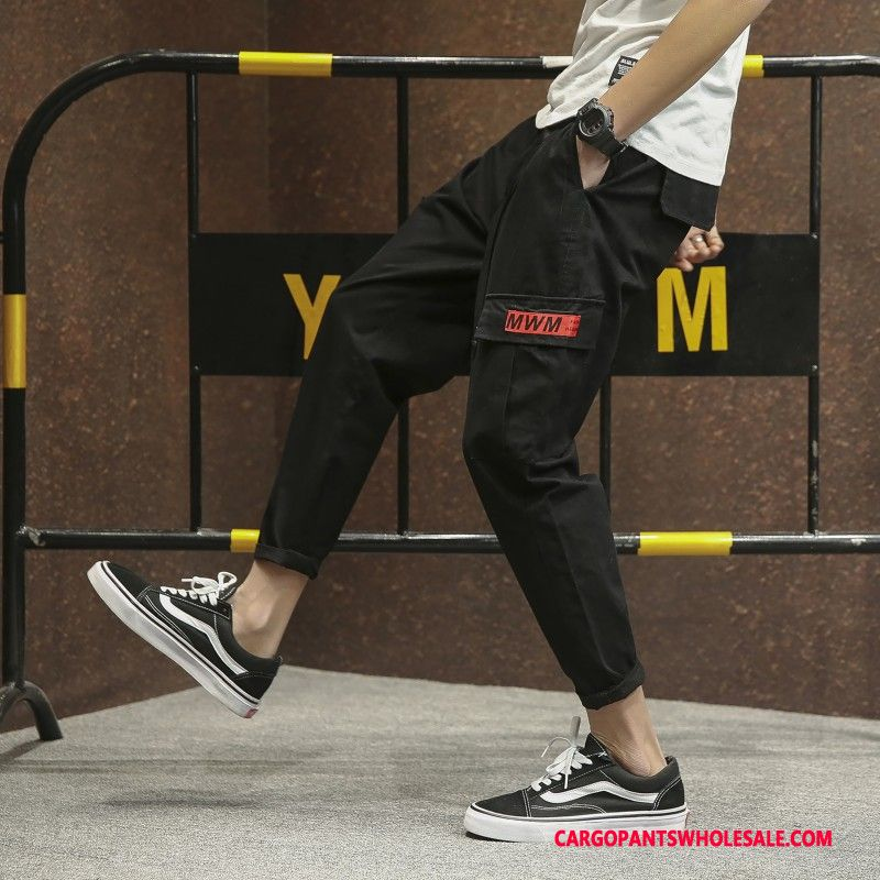 Cargo Pants Male Black Tide Brand The New Men Summer Pants Cargo