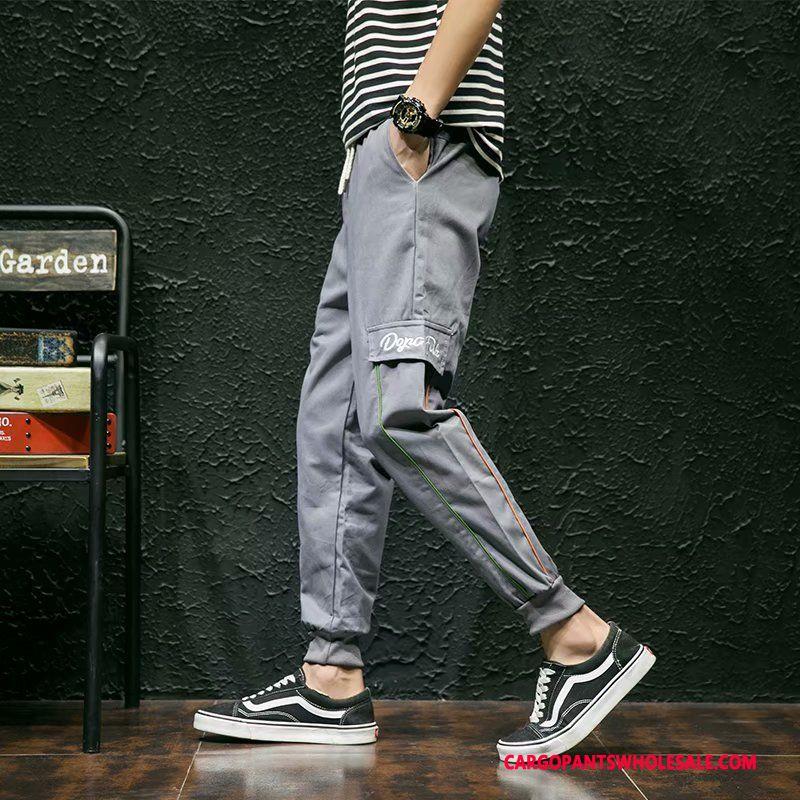 Cargo Pants Male Black Trend Loose Men Cargo Pants Summer Hip Hop