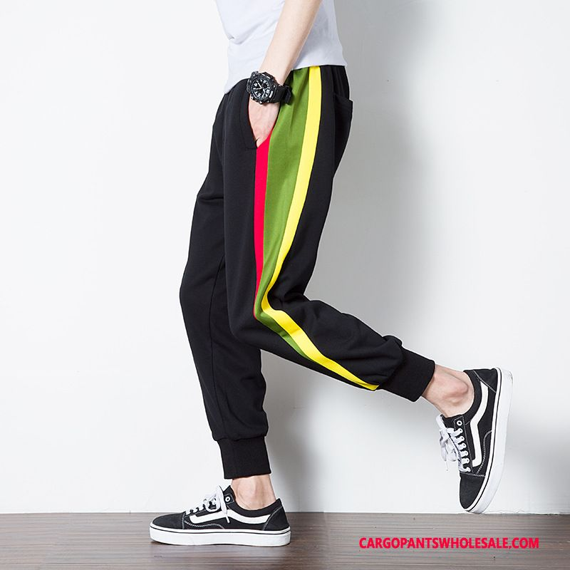 Cargo Pants Male Black Trend Summer Pants Casual Pants Motion