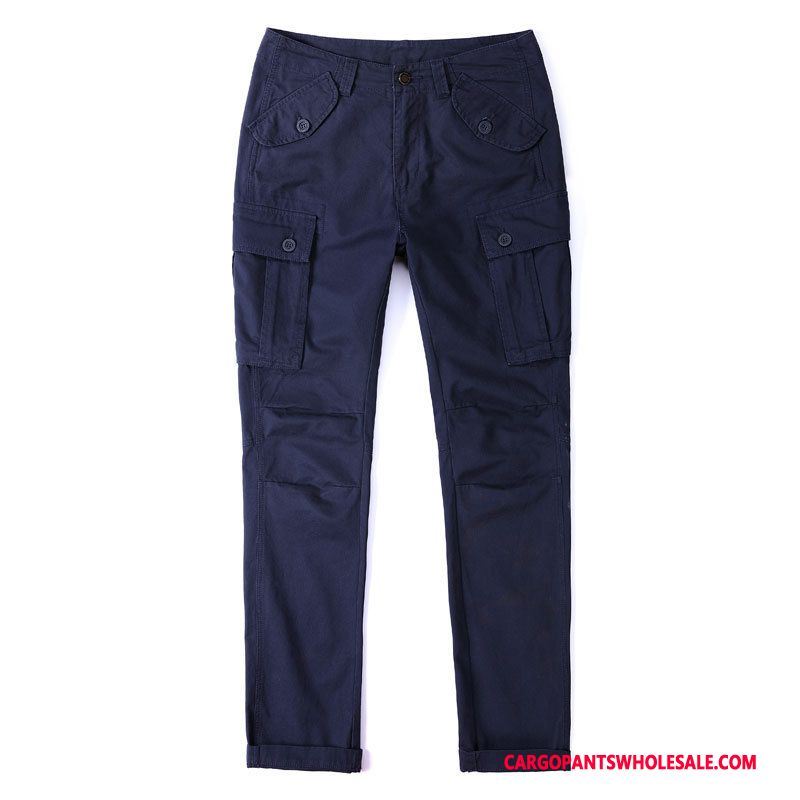 Cargo Pants Male Blue Field Battle Outdoor Men Cotton Military Pants