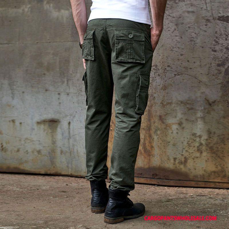 Cargo Pants Male Blue Large Size Europe Men Trousers Cargo Leisure