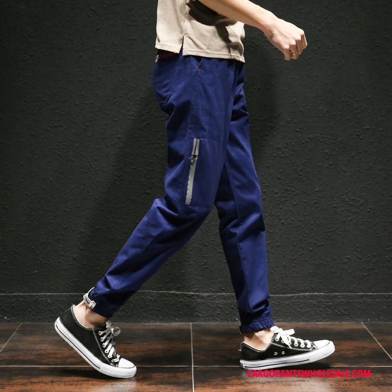 Cargo Pants Male Blue Pants Cargo Men Beam Foot Trousers Explosion