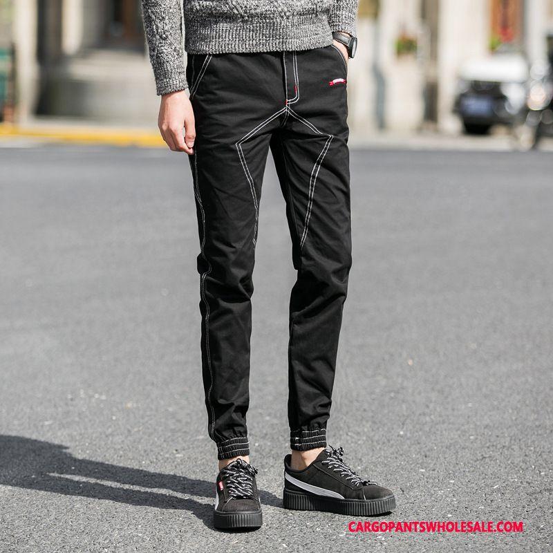 Cargo Pants Male Blue Pants Cargo Pants Men Casual Pants Summer Slim Fit
