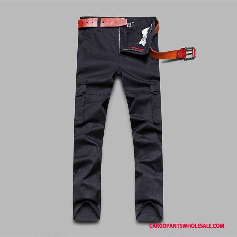 Cargo Pants Male Blue Thin Spring Men Cargo Leisure Large Size