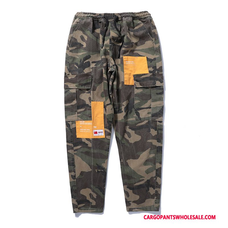 Cargo Pants Male Camouflage All Match Summer Multiple Pockets Trousers Beam Foot