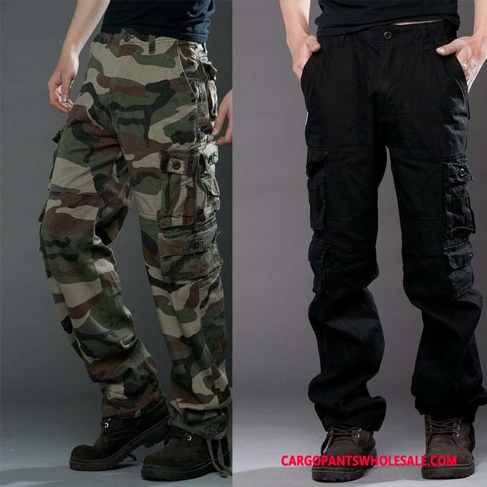 Cargo Pants Male Camouflage Black Winter Cargo Pants Men Autumn Trousers Loose