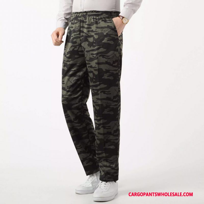 Cargo Pants Male Camouflage Cargo Pants Elastic Force Trousers Knitting Loose