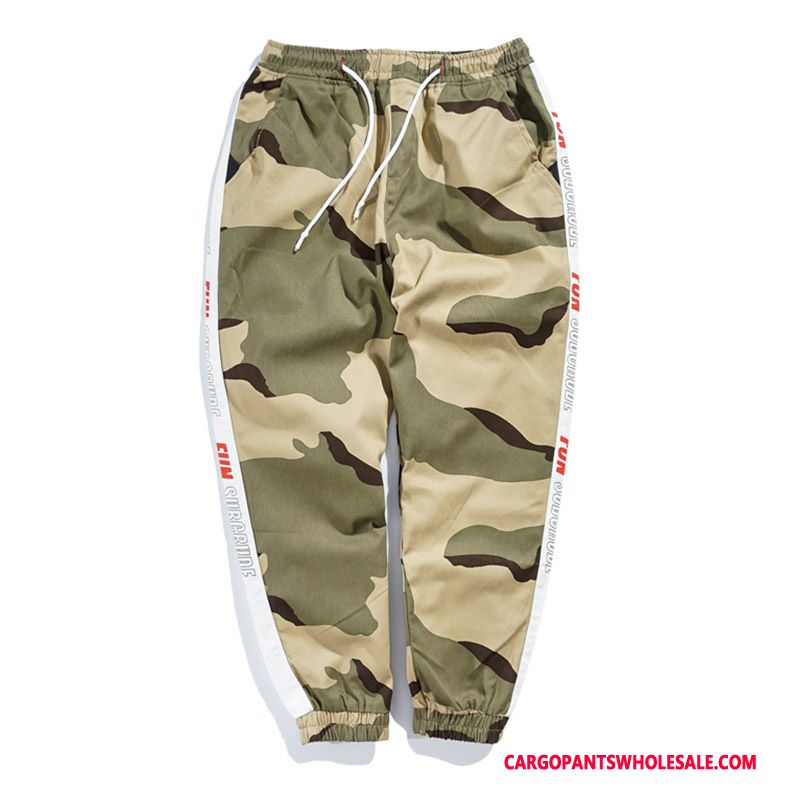 Cargo Pants Male Camouflage Cargo Pants Tide Street Beam Foot Trousers