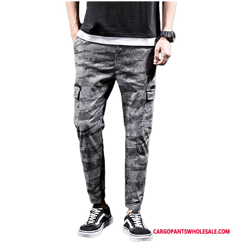 Cargo Pants Male Camouflage Gray Casual Pants The New Men Trend Spring Summer