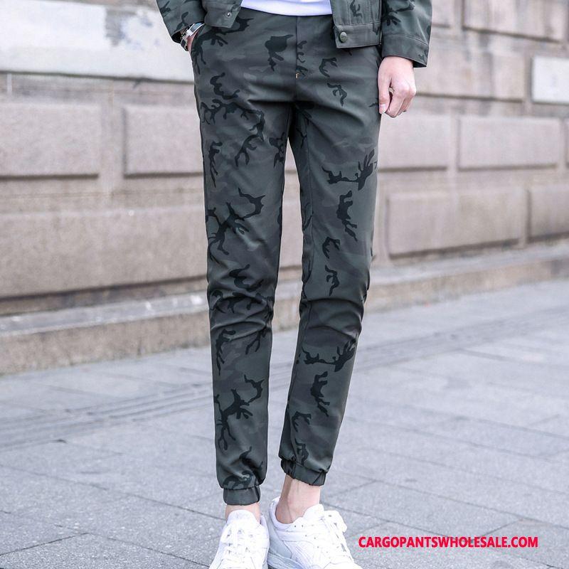Cargo Pants Male Camouflage Gray Pants Beam Foot Men Casual Pants Cargo Pants Autumn