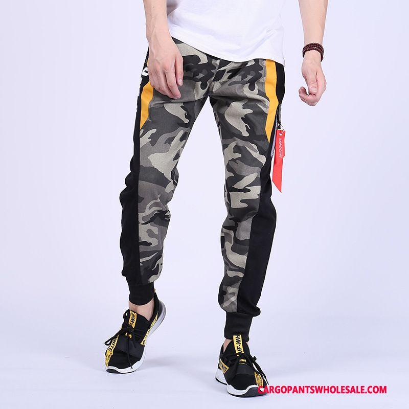 Cargo Pants Male Camouflage Green Trend Personality Pants Juvenile Cargo Pants