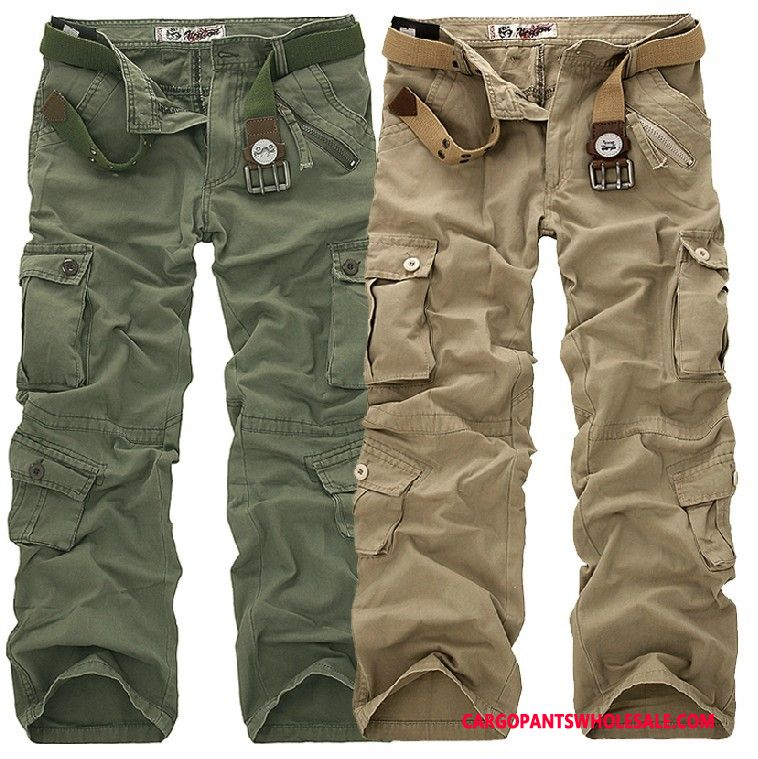 Cargo Pants Male Camouflage Green Trousers Europe Multiple Pockets Cotton Cargo Pants