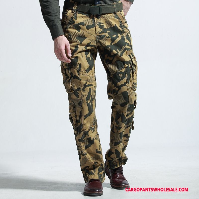 Cargo Pants Male Camouflage Khaki Outdoor Trousers The New Cargo Cotton