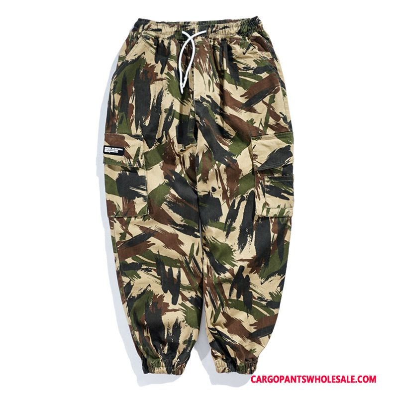 Cargo Pants Male Camouflage Leisure Beam Foot Tide Brand Summer Pants