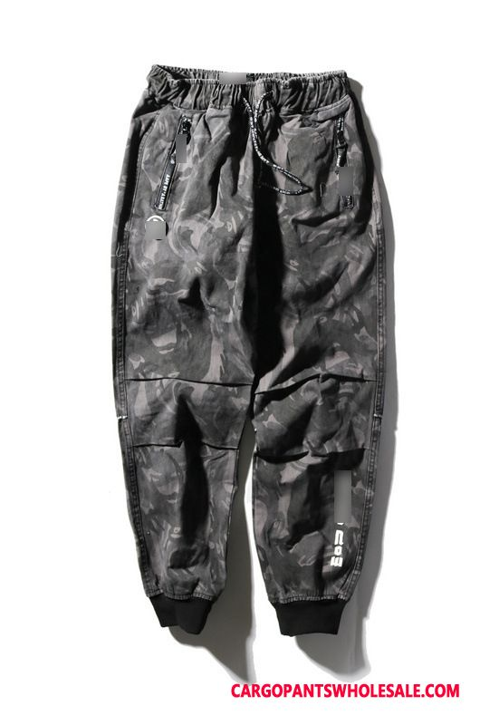 Cargo Pants Male Camouflage Leisure Pants Cargo Pants Elastic Trousers