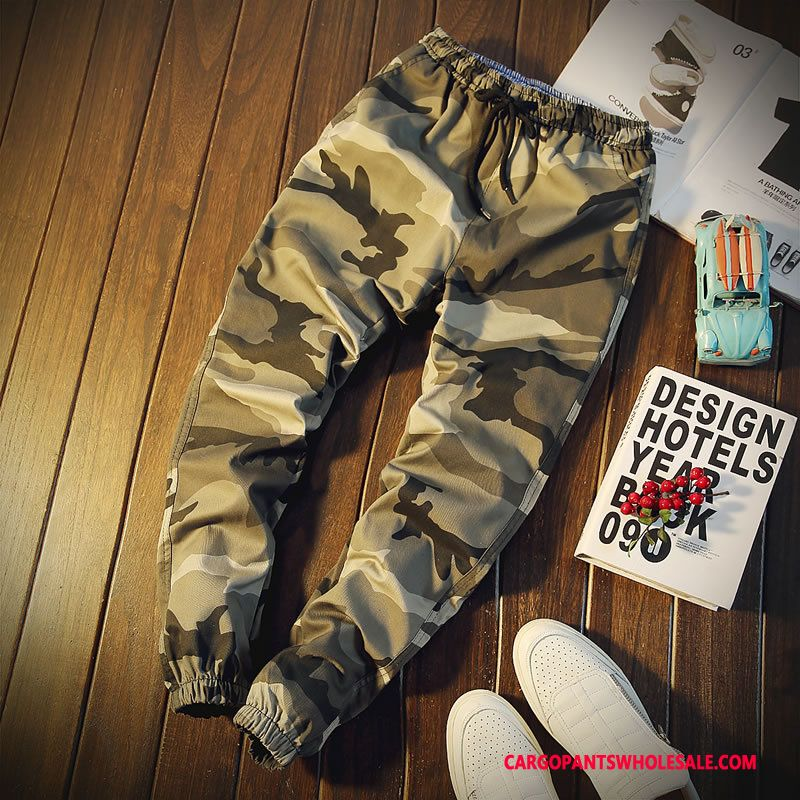 Cargo Pants Male Camouflage Light Pants Casual Pants Men Autumn Outdoor Trousers