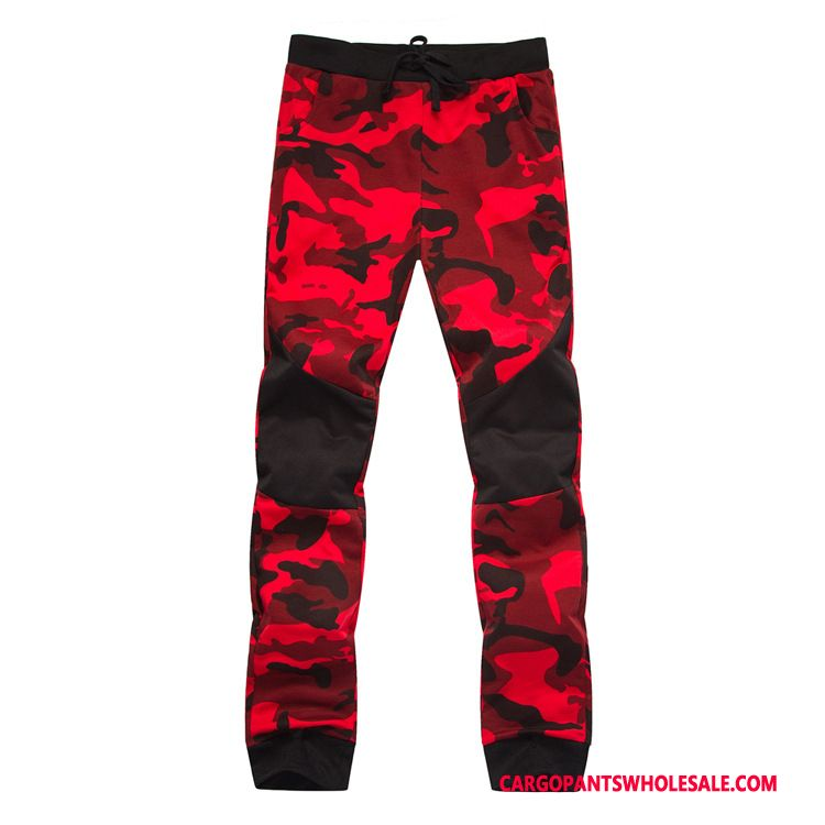 Cargo Pants Male Camouflage Red Green The New Trousers Motion Spring Leisure