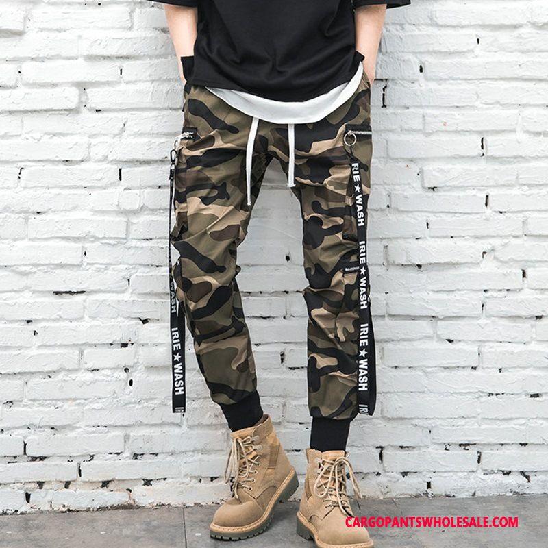 Cargo Pants Male Camouflage Slim Fit Pants Men Spring Sweatpants Casual Pants