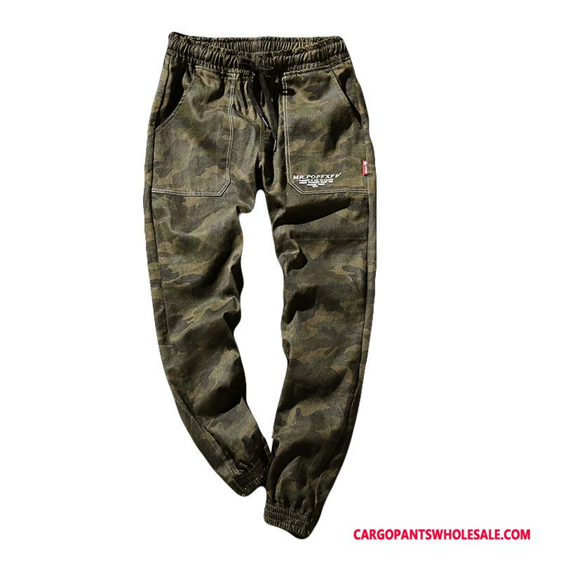 Cargo Pants Male Camouflage Trend Slim Fit Beam Foot Harlan Spring