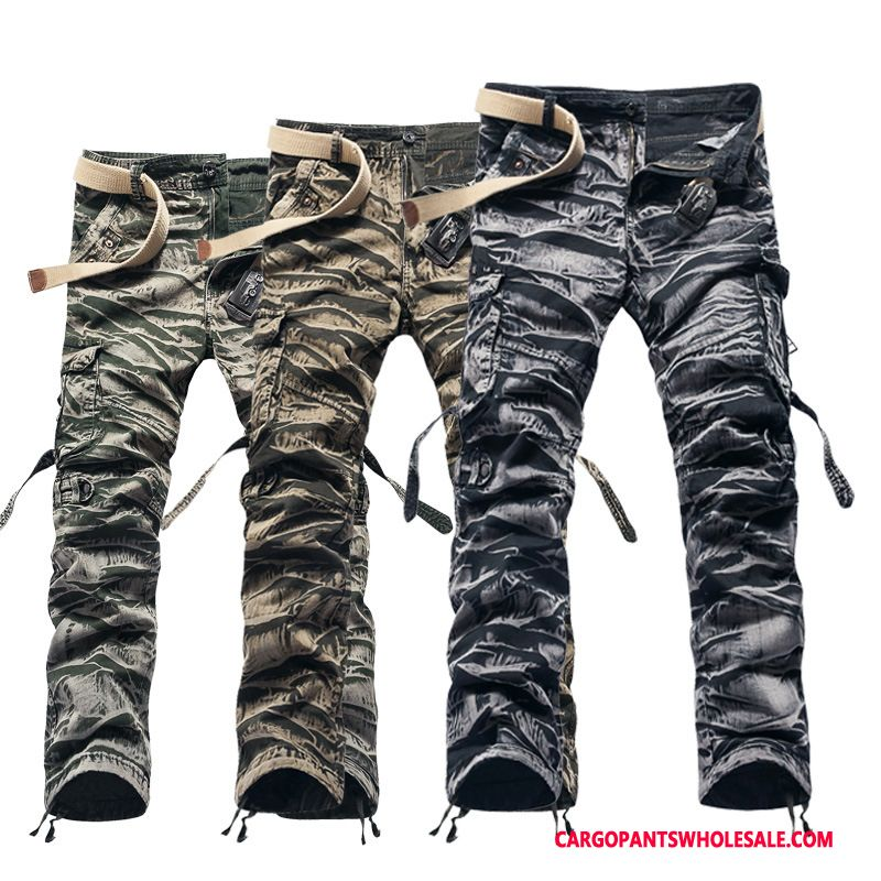 Cargo Pants Male Camouflage White Black Cargo Cargo Pants Men Europe Outdoor Large Size