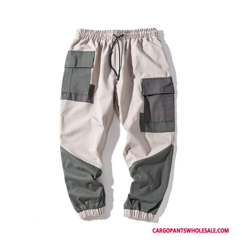 Cargo Pants Male Casual Pants Beam Foot Men Leisure Splice Brand