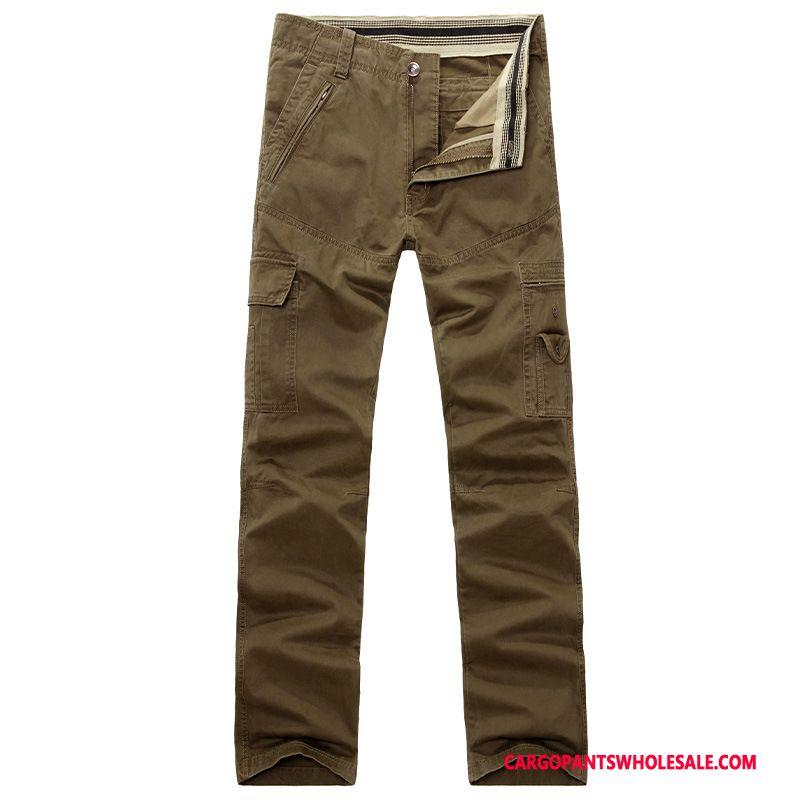 Cargo Pants Male Comfortable Multi-pocket Men Cotton Trousers Solid Color