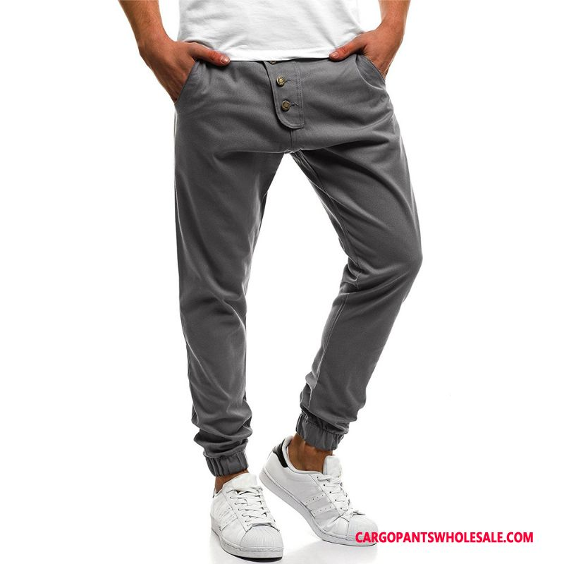Cargo Pants Male Gray Casual Pants Explosion Men Multi-pocket Cargo Trousers