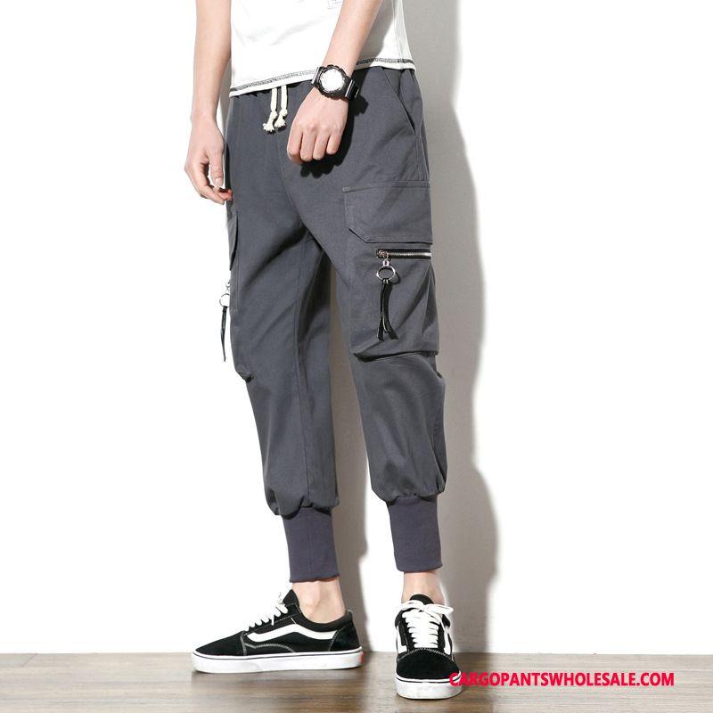 Cargo Pants Male Gray Large Size Sweatpants Men Loose Casual Pants Spring