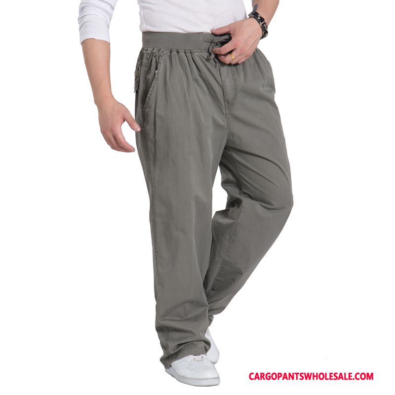Cargo Pants Male Gray Straight Trend Men Plus Size Cargo Pants Casual Pants