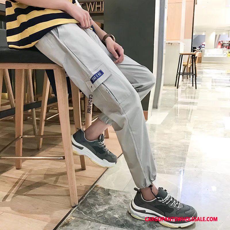 Cargo Pants Male Gray Sweatpants Harlan Men Casual Pants Trend Cargo Pants