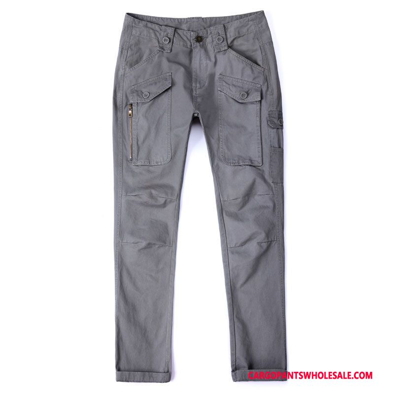 Cargo Pants Male Gray The New Cargo Pants Men Trousers Multi-pocket Casual Pants