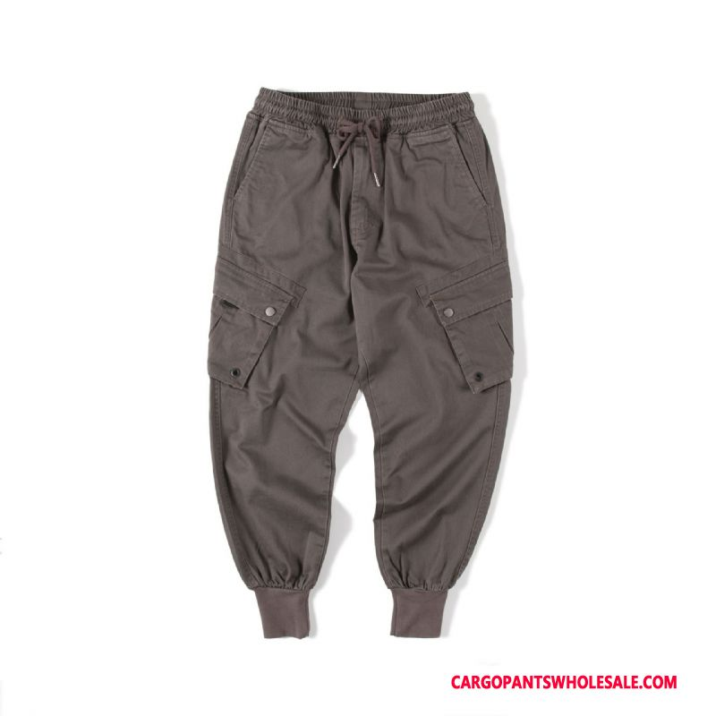Cargo Pants Male Gray The New Loose Trend Spring Cargo Pants