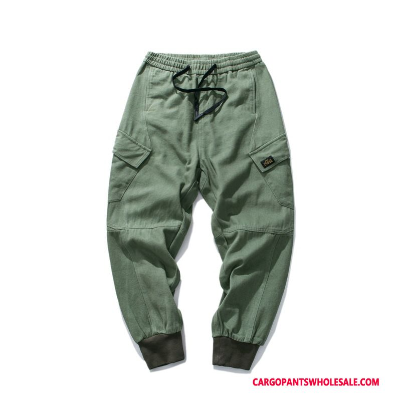 Cargo Pants Male Green Autumn Loose Men Tide Brand The New Casual Pants