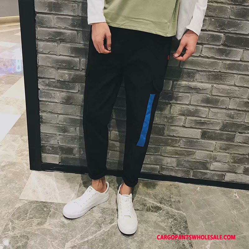 Cargo Pants Male Green Gray Casual Pants Trend Men Thin Section Cargo Pants Large Size