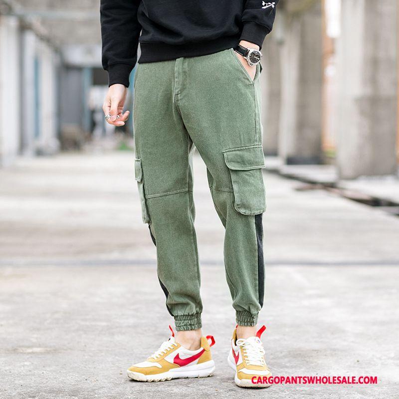 Cargo Pants Male Green Green Fashion Trousers Men Loose Cargo Pants Leisure