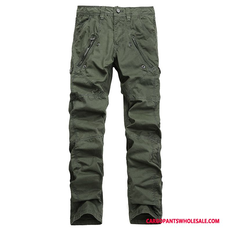 Cargo Pants Male Green Large Size Multi-pocket Zipper Fashion Trousers