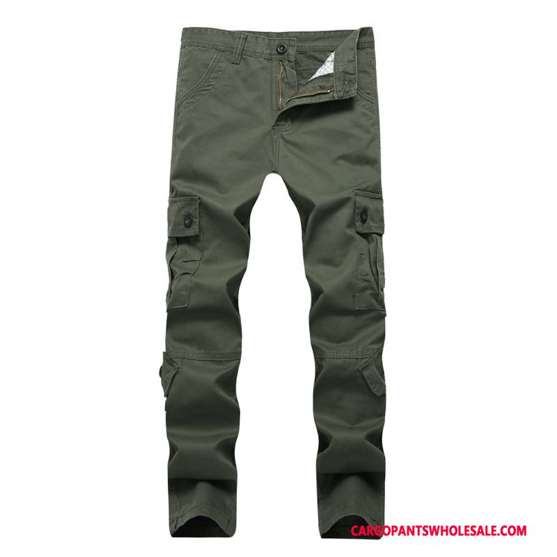 Cargo Pants Male Green Large Size Trousers Men Leisure Cargo Pants Decoration