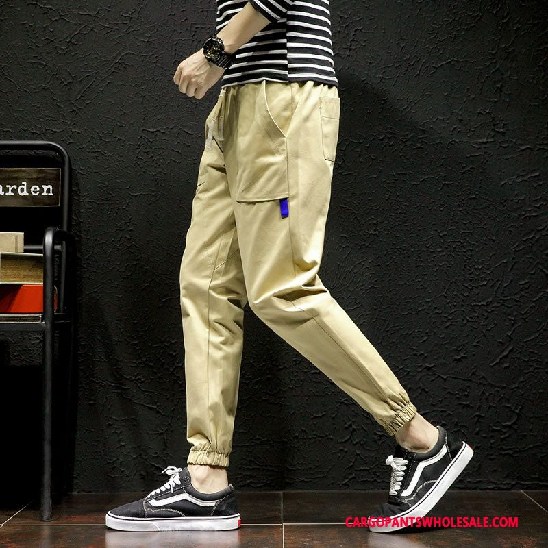 Cargo Pants Male Khaki Autumn Large Size Men Small Trend Motion