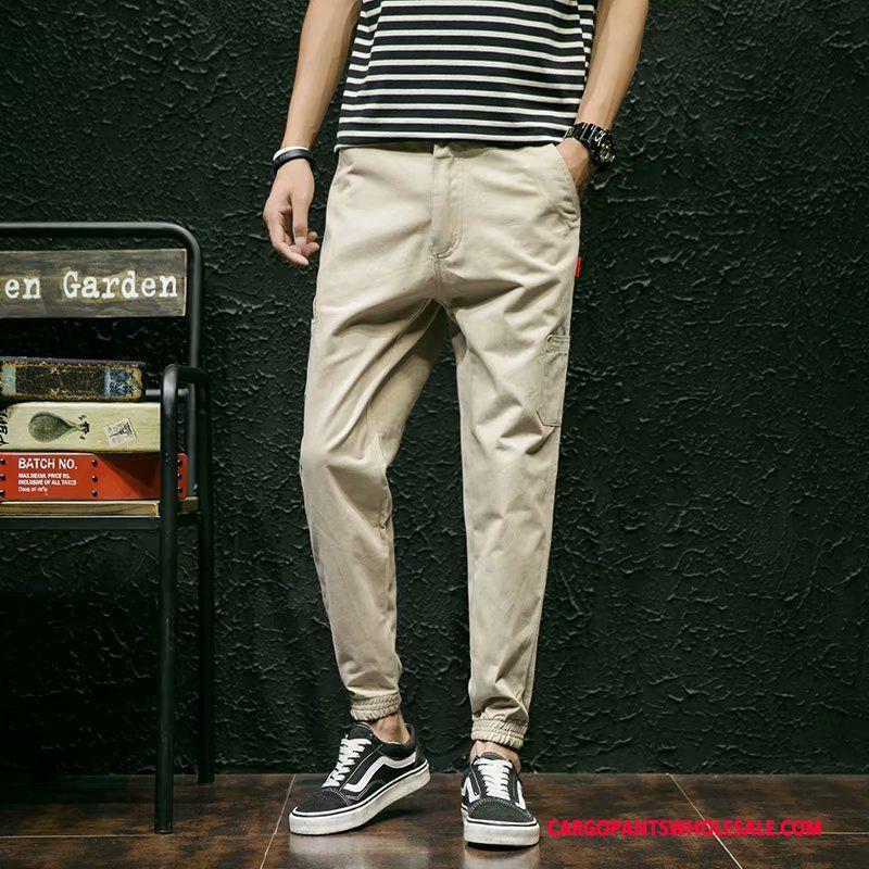 Cargo Pants Male Khaki Cargo Pants Explosion Tide Brand Student Casual Pants