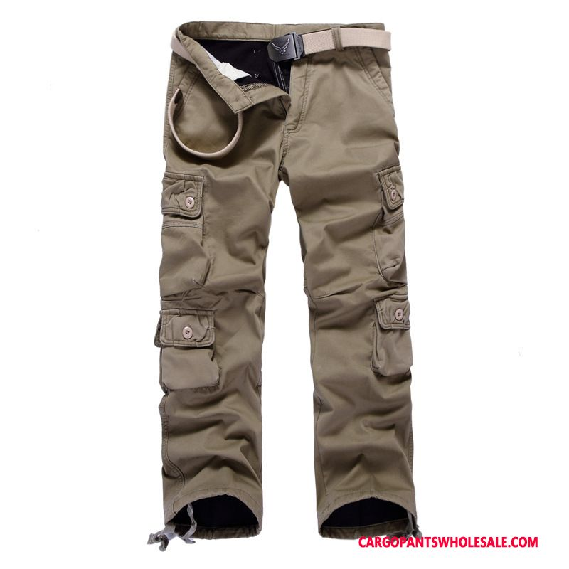 Cargo Pants Male Khaki Deep Large Size Pants Men Loose Winter Autumn