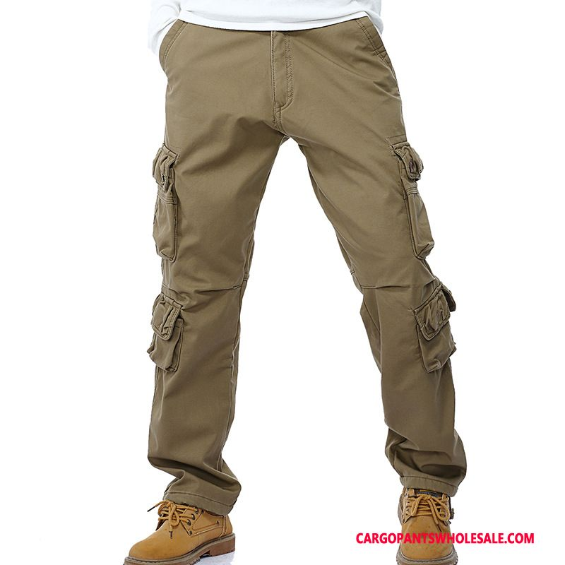 Cargo Pants Male Khaki Deep Spring Tide Men Pants Autumn Loose