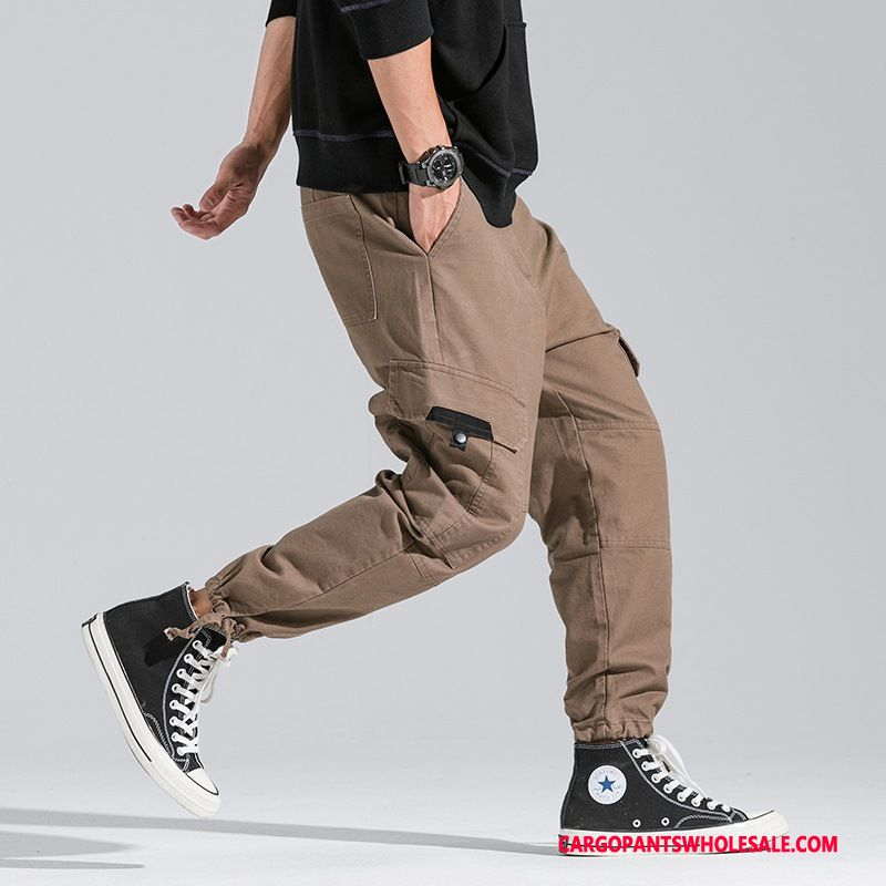 Cargo Pants Male Khaki Deep Student Daily The New Pants Cargo Pants