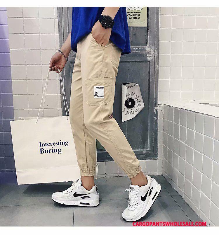 Cargo Pants Male Khaki Go To Work Harlan Men Student Trend Big